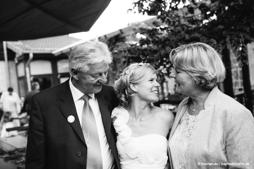 ... mit Julias Eltern