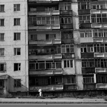 In der Stadt sind viele dieser fast heruntergekommenen Häuser zu finden.