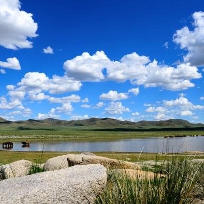 Auf dem Weg in die Steppe.- die Mongolei hat übrigens mehr Pferde als Einwohner.
