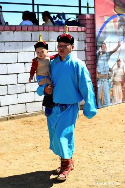 Kleiner Ringer beim Naadam-Fest.
