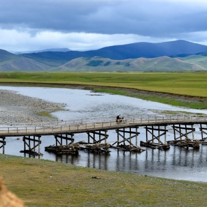 Brücke am Orkhon-Fluss.