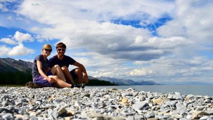 Julia und Stefan am Khuvsgul-See.