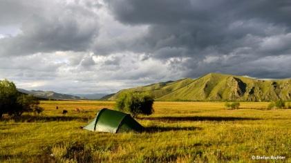 Unser Zeltplatz in der ersten Nacht.