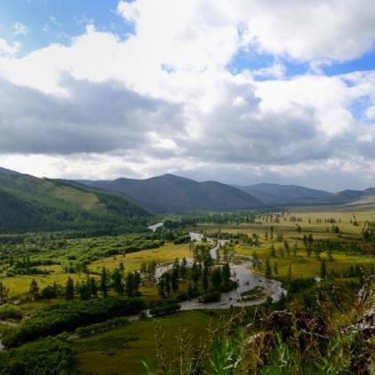 Blick auf den Terelj-Fluss.