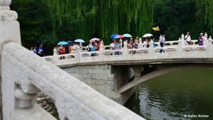 Die Chinesen werden ganz vorbildlich durch die Gartenanlagen geführt und halten alles auf ihrer Kamera fest. Sicher ist sicher.