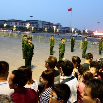 Chinesischer Staastaufmarsch am Tiananmen Square