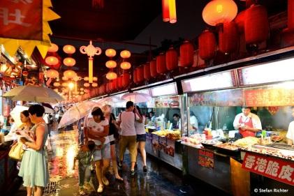 Die Seitenstraßen der Wangfujing Street