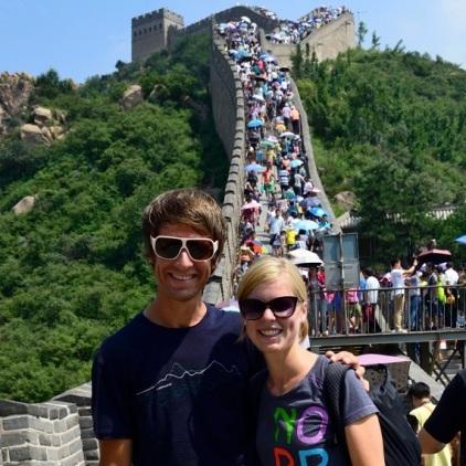 Obligatorisches Foto: Julia und Stefan auf der Großen Mauer.