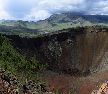 Der Khorgo-Vulkan.