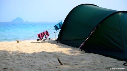 ...zwei Nächte davon in unserem Zelt.