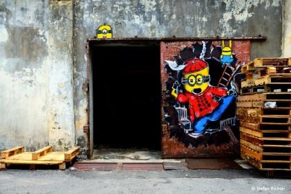 Garagenmalerei.