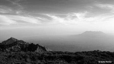 Blick auf den Vulkan Baluran.