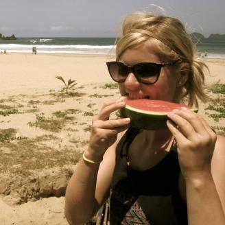 Es gibt Wassermelone statt Torte zum Geburtstag.