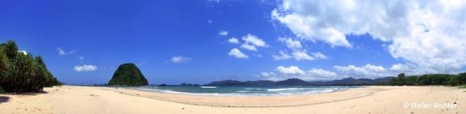 Panorama von unserem Strand.