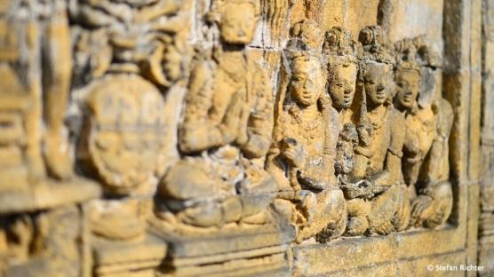 Ausschnitt eines Reliefs am Tempel.