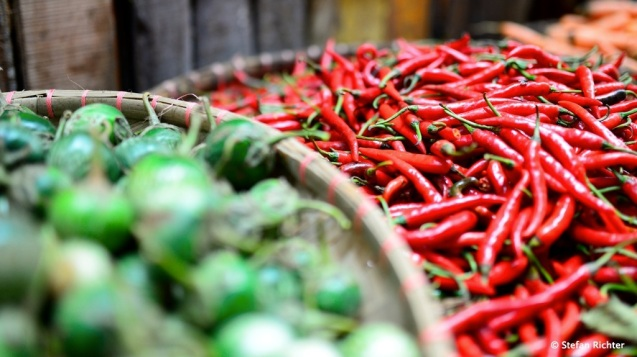 Rote Chilis: Aber bei mehr als 6 Stück im Essen wird es sogar für Stefan zu scharf.