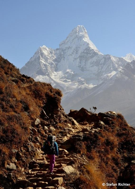 Auf dem Weg von Khumjung nach Dole.