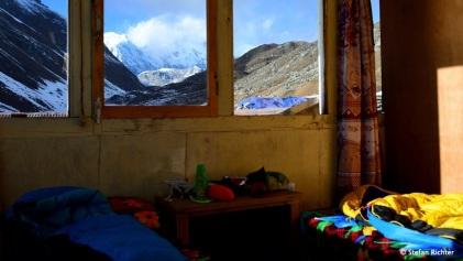 Zimmerupgrade :-) Lodge-Suite mit Blick auf Cho Oyu.