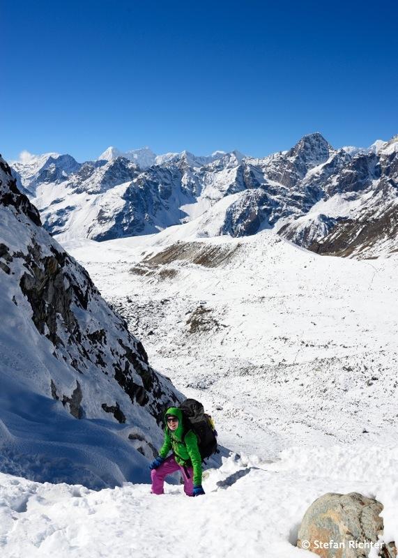 Der Aufstieg zum Cho La Pass (5.420 m).