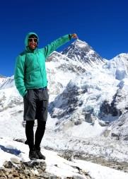 Hauptsache mal eben mit kurzer Hose auf dem Everest.