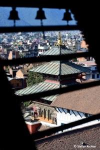 Blick auf Kathmandu vom Basantapur Tower am Durbar Square in Kathmandu.