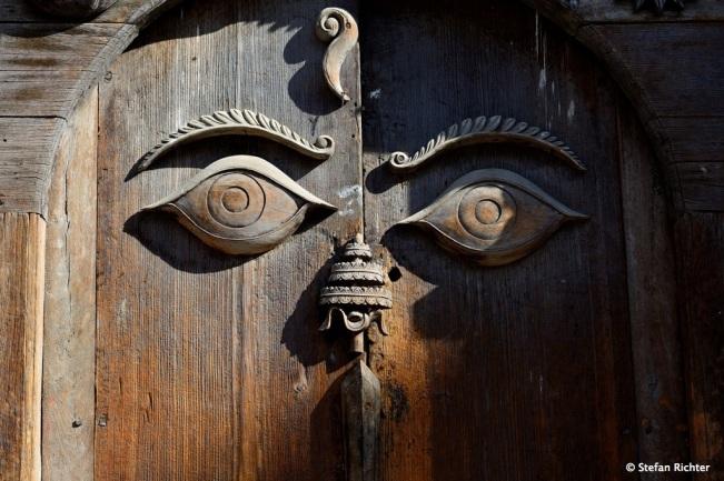Die Holzversion von Buddha's Eyes.