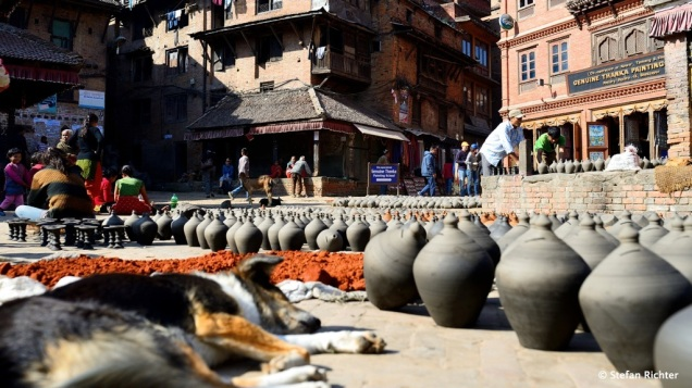 Der Pottery Square in Bhaktapur.