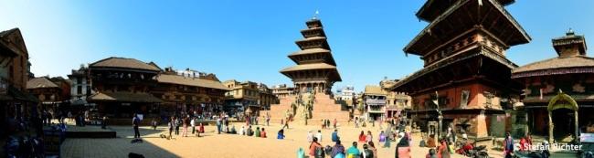 Panorama des Taumadhi Square in Bhaktapur.
