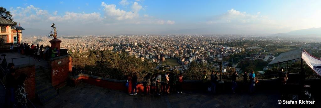 Über den Dächern von Kathmandu.