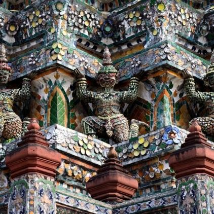 Porzellan-Mosaik am Wat Arun.