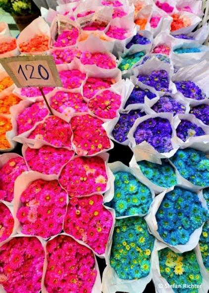 Blumenmarkt in Bangkok.