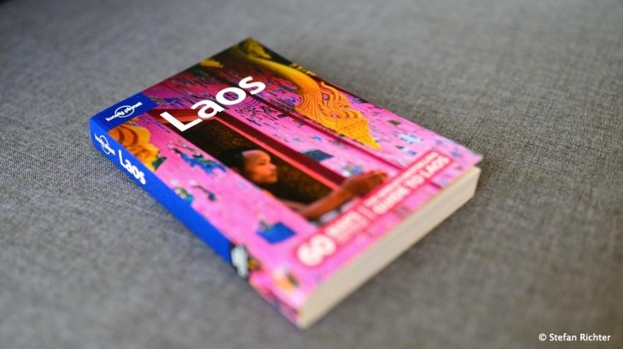 Der Lonely Planet Laos - weit gereist und noch wenig genutzt.