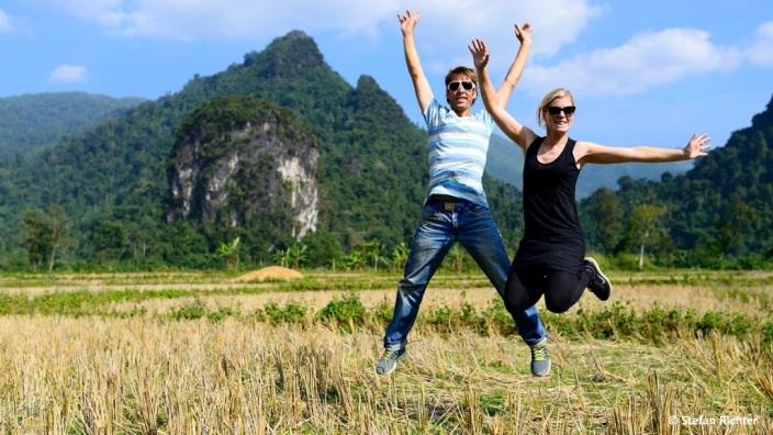 Yeah! Julia und Stefan auf Weltreise und in Laos.