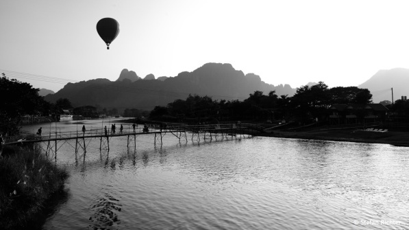 Sunset in Vang Vieng.