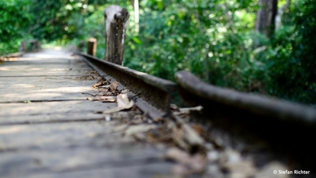 Die alte Bahnlinie auf Don Khon. Sie diente früher dazu, die Wasserfälle über Land zu umgehen.