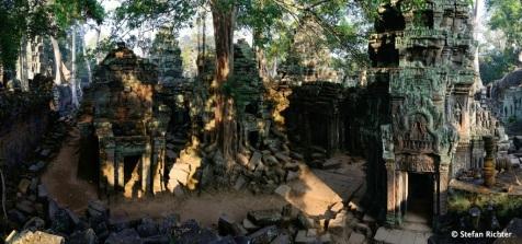 Im Dschungel gefangen. Die Tempelanlage von Ta Promh.