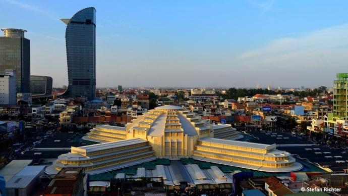 Shopping Tempel in Phnom Penh: Central Market.