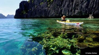 Ja, wir sind auf den Philippinen und nicht in Kanada wie das Boot vermuten lässt.