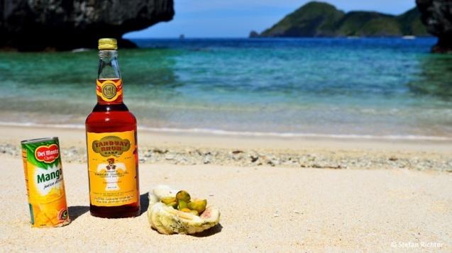 Mango Juice, Rum und Limetten. Captain Jack Sparrow wäre sehr zufrieden.
