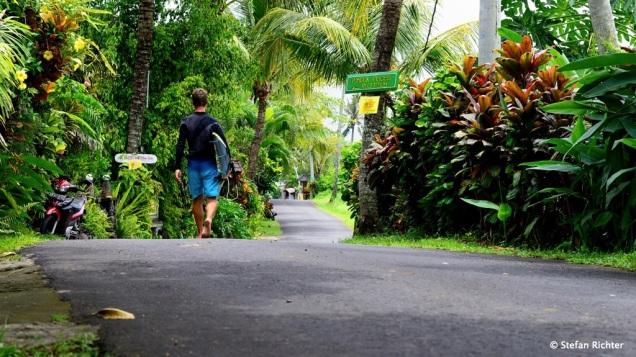 Der Weg zum Strand.