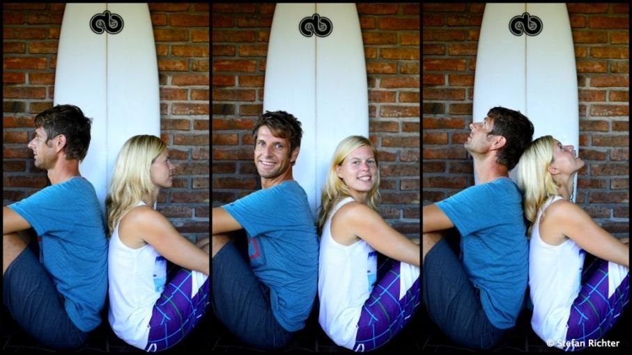 Julia und Stefan sind jetzt mit Surfboards auf Weltreise.