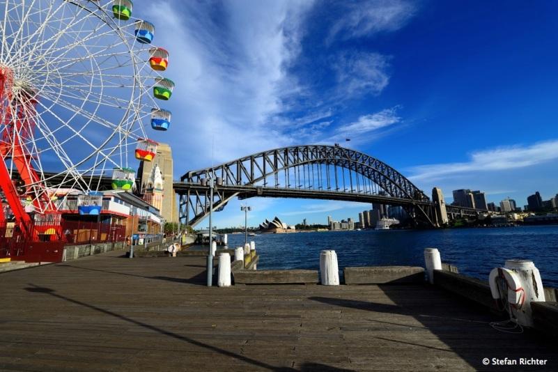 Luna Park und Harbour Bridge.
