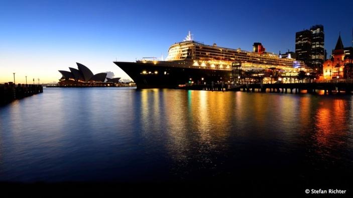 Besuch der Queen Mary 2.