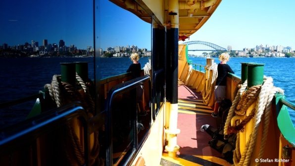 Auf der Fähre von Manly nach Sydney CBD.