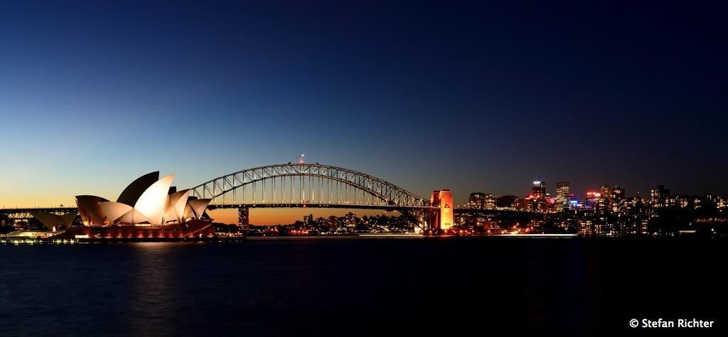 Ein letzter Sonnenuntergang in Sydney.