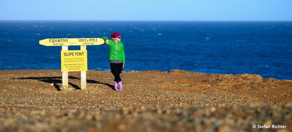 Mal eben zum Südpol schauen. Südlichster Punkt unserer Weltreise!