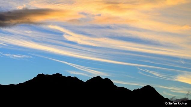 Sonnenuntergang im Fiordland.