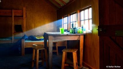 Der Style der Hütte war innen wie außen praktisch rustikal.