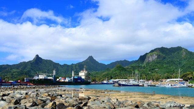 Der Hafen von Avarua.