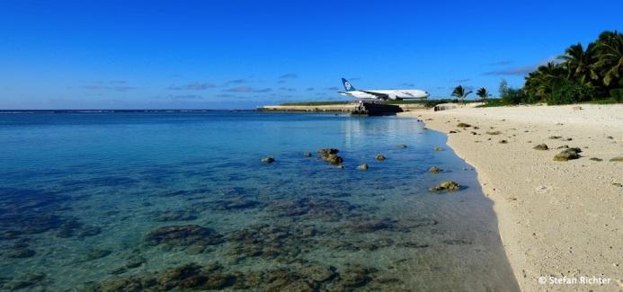 Die Air New Zealand Boeing 777-200 ist startklar.